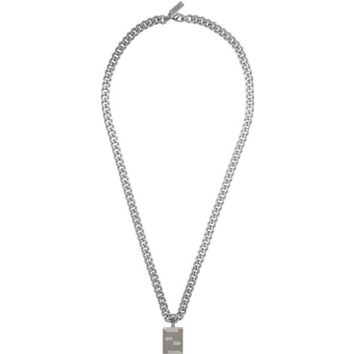 Photo: Fendi Silver Icon Logo Chain Necklace