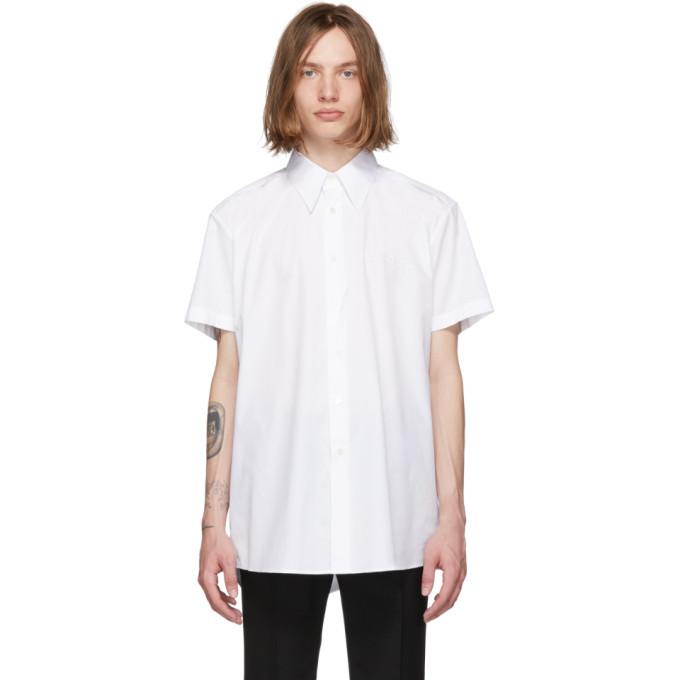 Raf Simons White Embroidered Shirt
