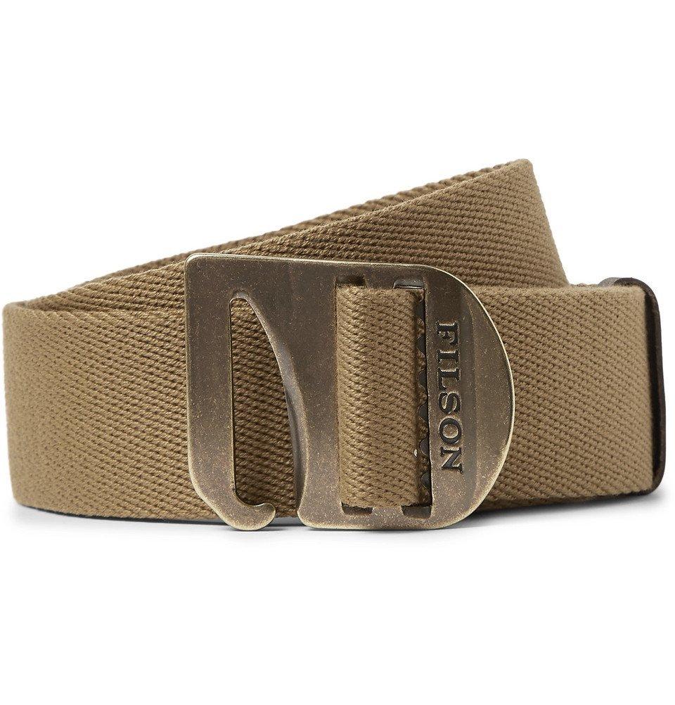Filson - Tan Togiak 4cm Leather-Trimmed Webbing Belt - Tan