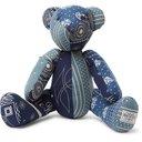 RRL - Limited Edition Bandana-Print Patchwork Teddy Bear - Blue