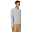 3.1 Phillip Lim Grey and Blue Classic Velour Sweatshirt