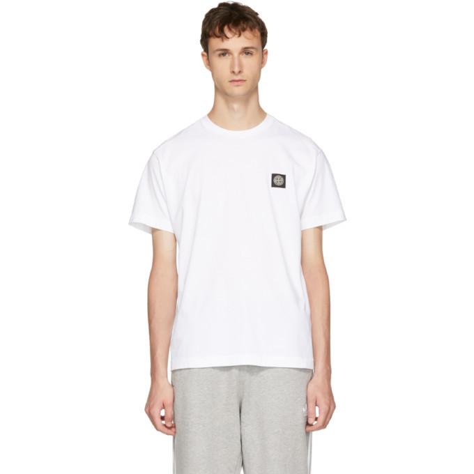 Photo: Stone Island White Logo Patch T-Shirt