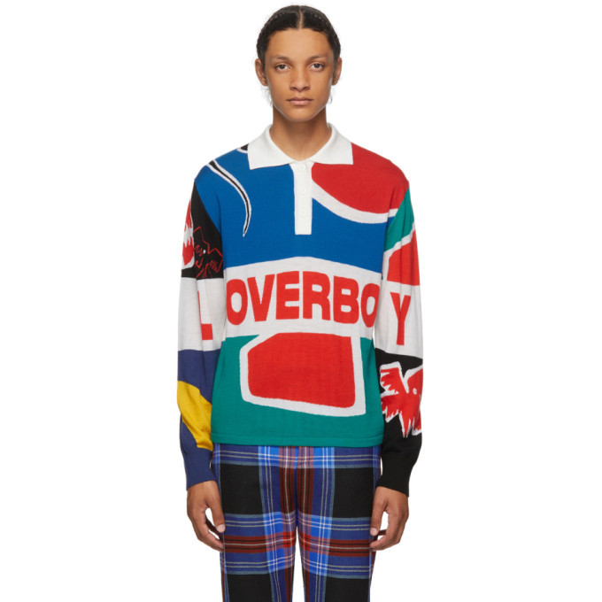 Photo: Charles Jeffrey Loverboy Multicolor Flag Rugby Polo