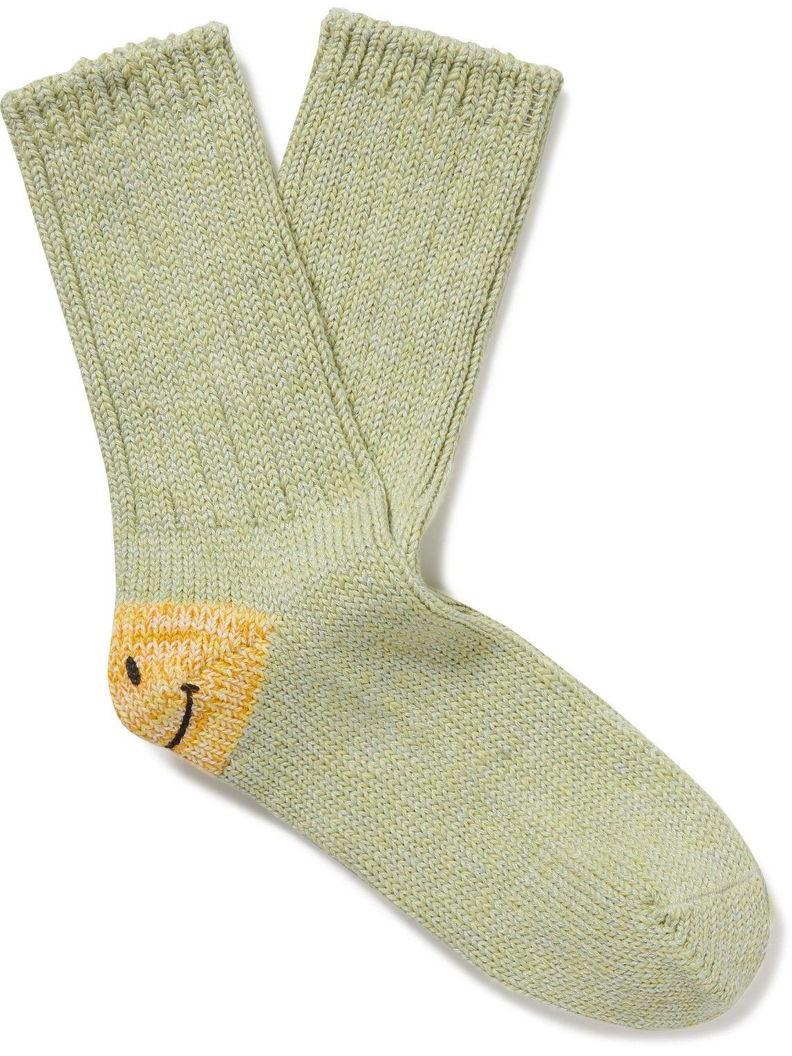 Photo: KAPITAL - Intarsia Cotton-Blend Socks