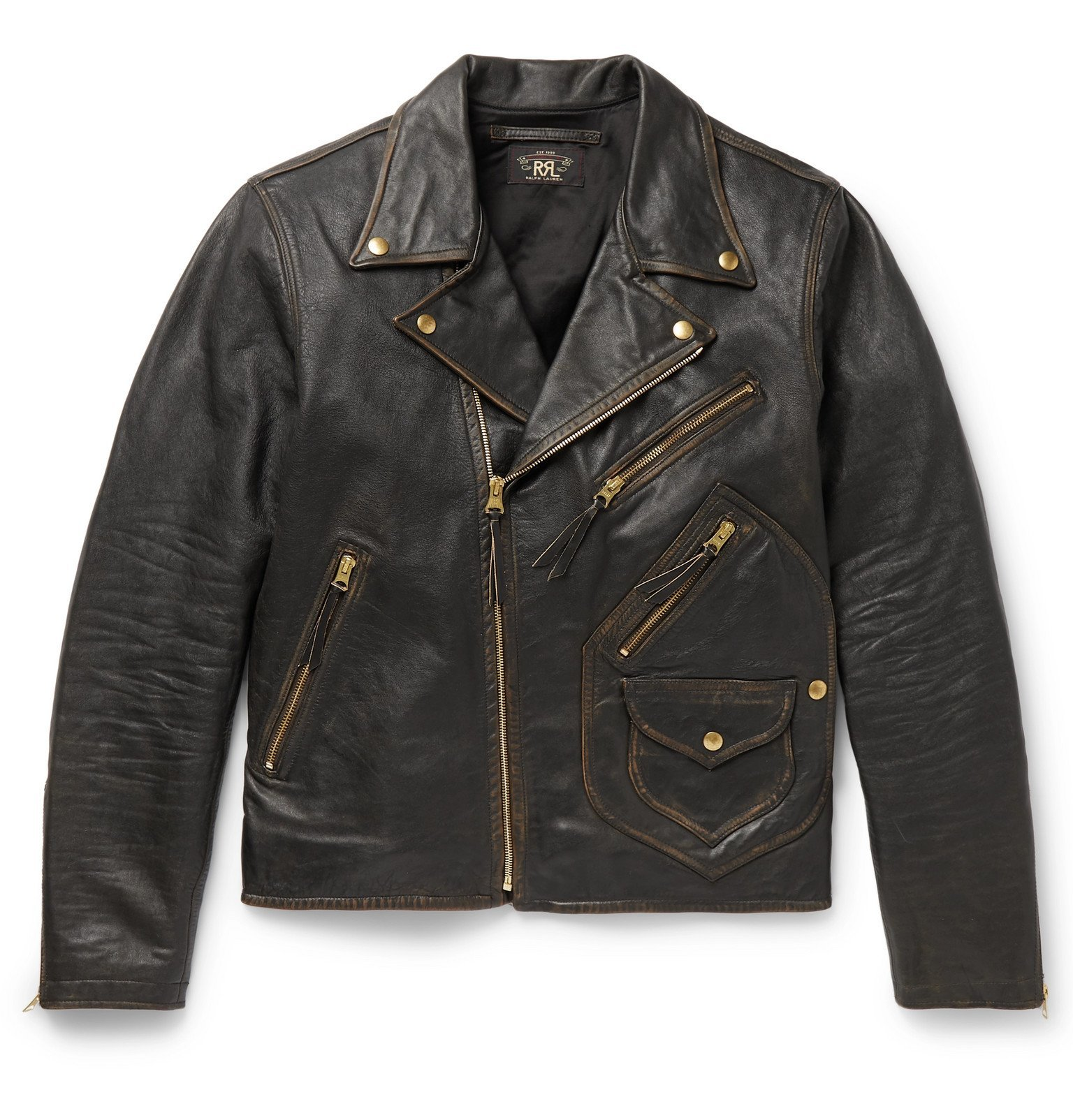 Photo: RRL - Marshall Leather Biker Jacket - Black