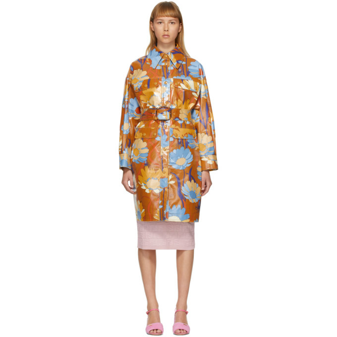 Photo: Fendi Multicolor Coated Cotton Daisy Garden Coat