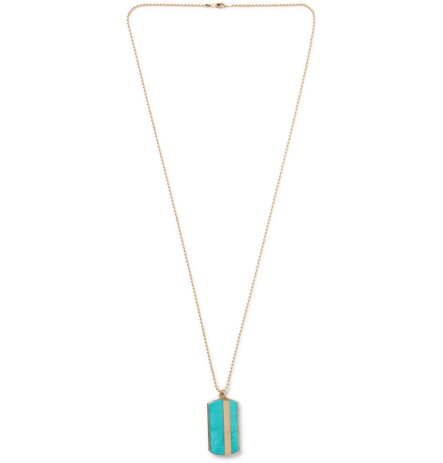 Photo: Peyote Bird - Turquoise and 14-Karat Gold-Filled Necklace - Gold