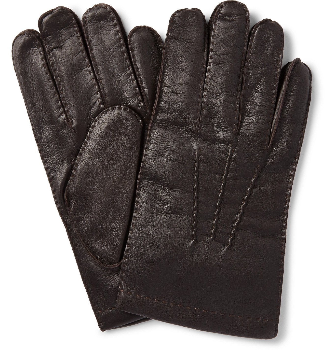 Photo: Dents - Shaftesbury Touchscreen Cashmere-Lined Leather Gloves - Brown