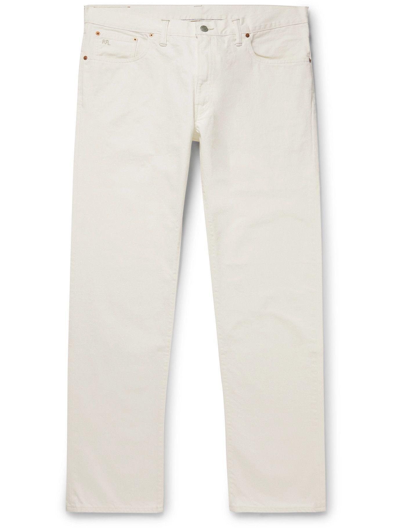 Photo: RRL - Slim-Fit Selvedge Denim Jeans - White