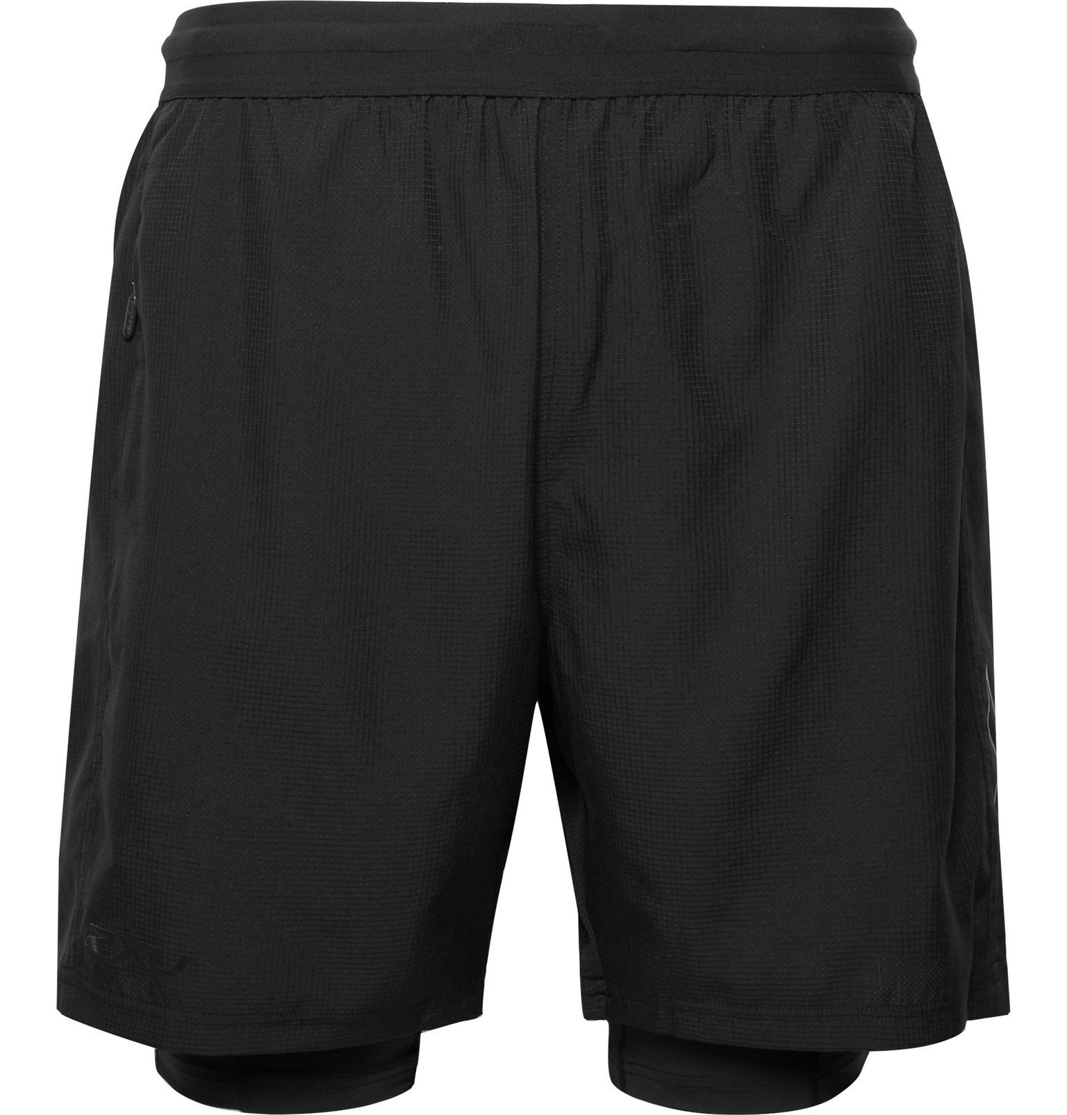 Photo: 2XU - 2-In-1 Ripstop Compression Shorts - Black