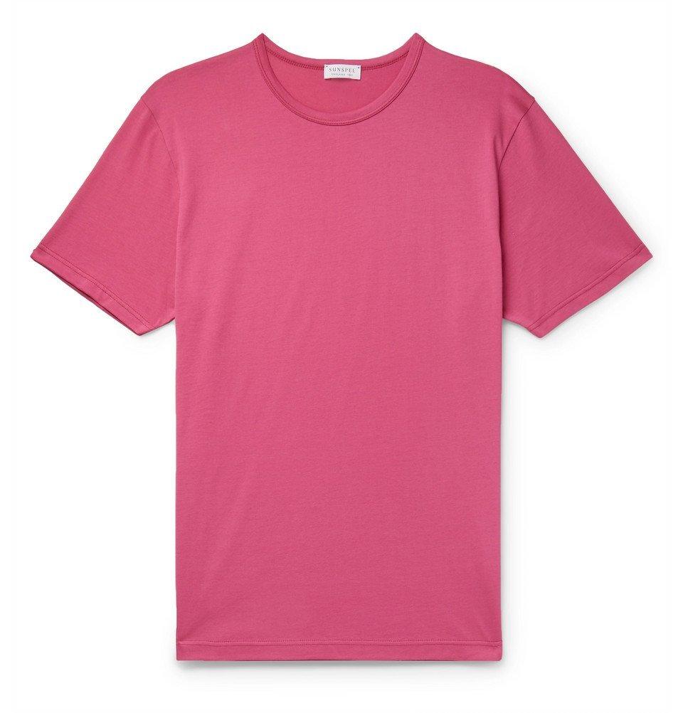 Sunspel - Pima Cotton-Jersey T-Shirt - Pink