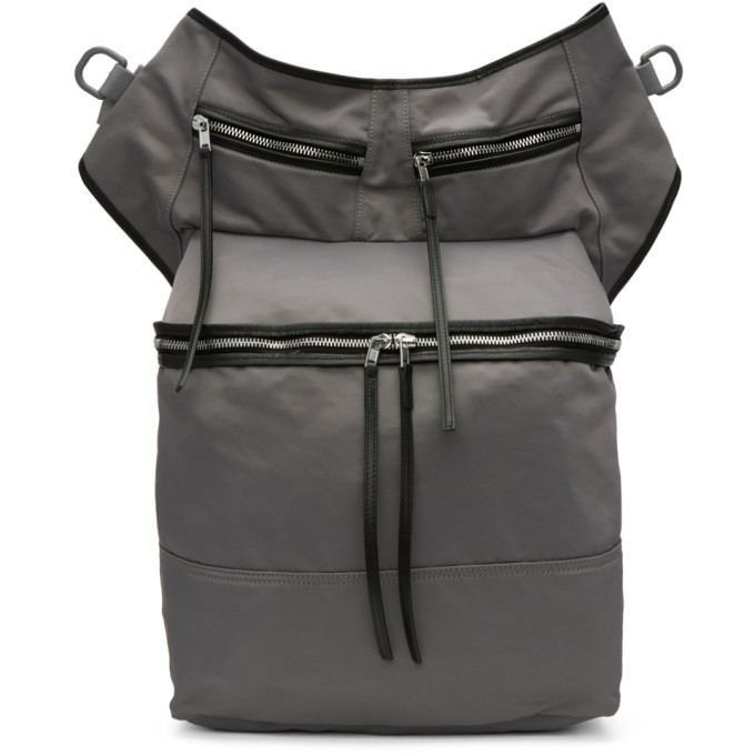 Photo: Rick Owens Drkshdw Grey Techno Trench Messenger Bag