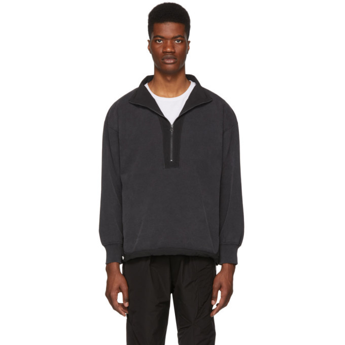 Photo: Remi Relief Black Special Finish Zip-Up Sweater