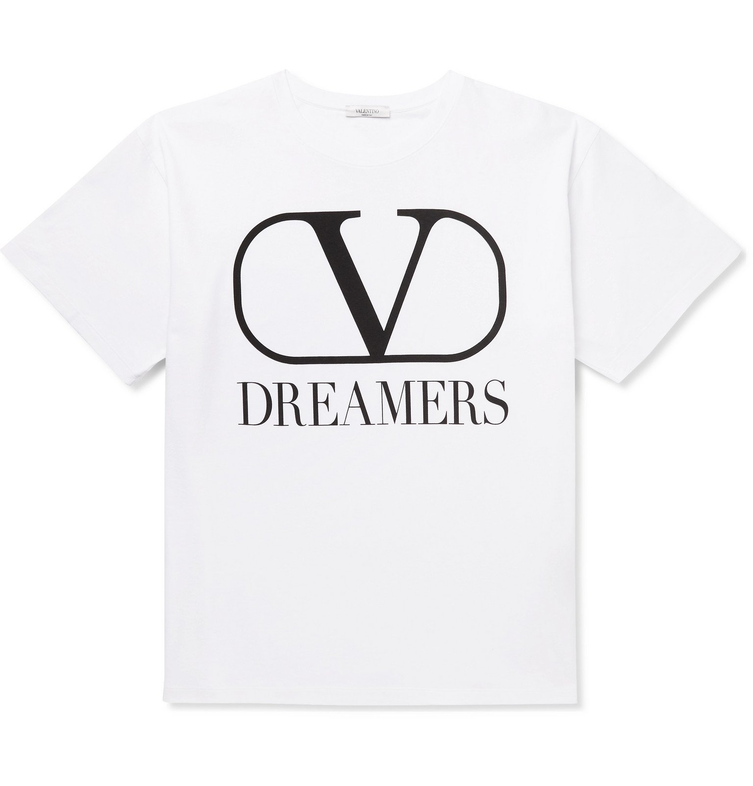 Photo: Valentino - Logo-Print Cotton-Jersey T-Shirt - White