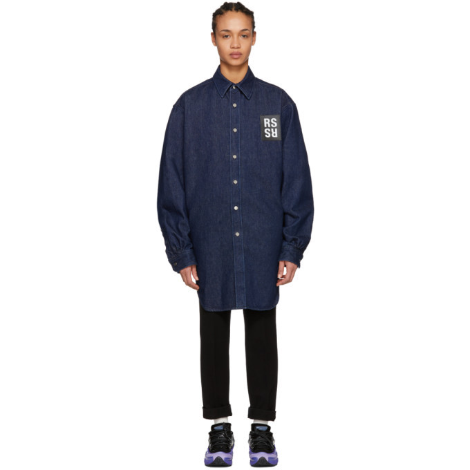 Photo: Raf Simons Navy Elastic Denim Shirt