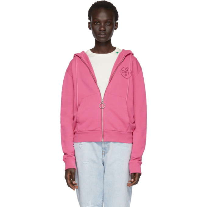 Photo: Off-White Pink Cross Zip Hoodie
