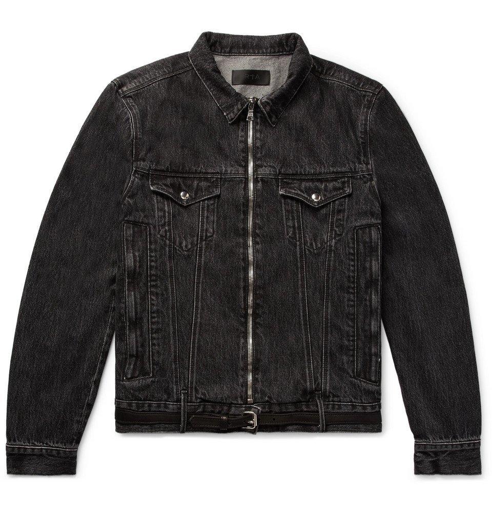 Photo: RtA - Belted Distressed Denim Jacket - Black