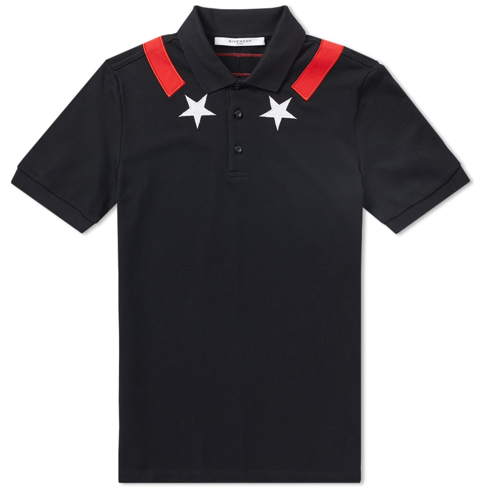 Photo: Givenchy Cuban Star Tape Collar Polo