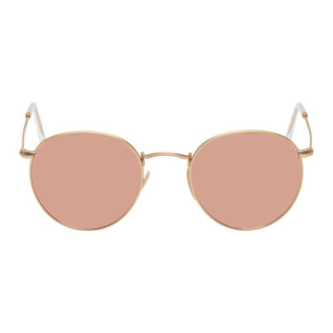 Photo: Ray-Ban Gold and Copper Round Phantos Sunglasses