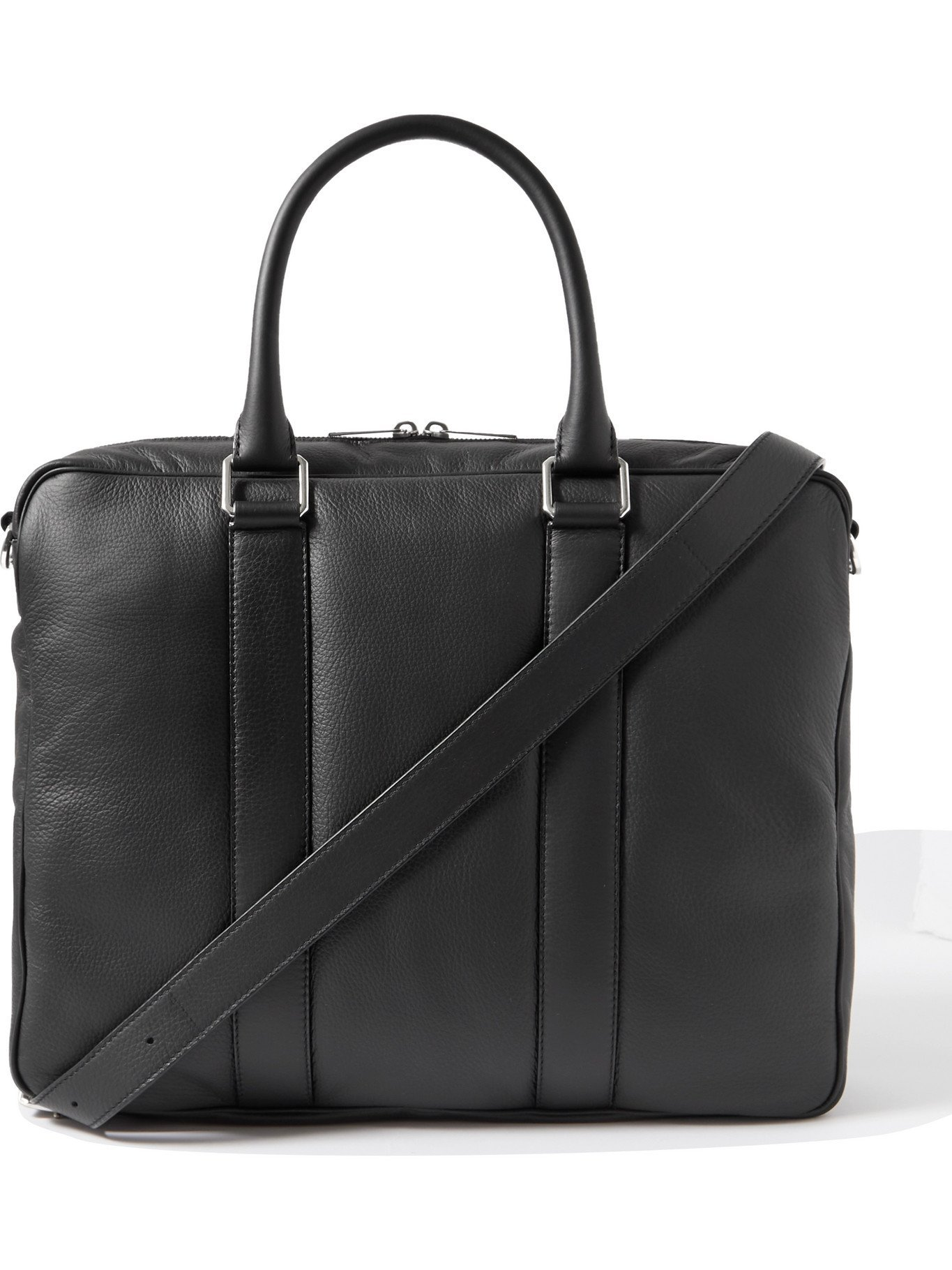 Photo: BOTTEGA VENETA - Full-Grain Leather Briefcase - Black
