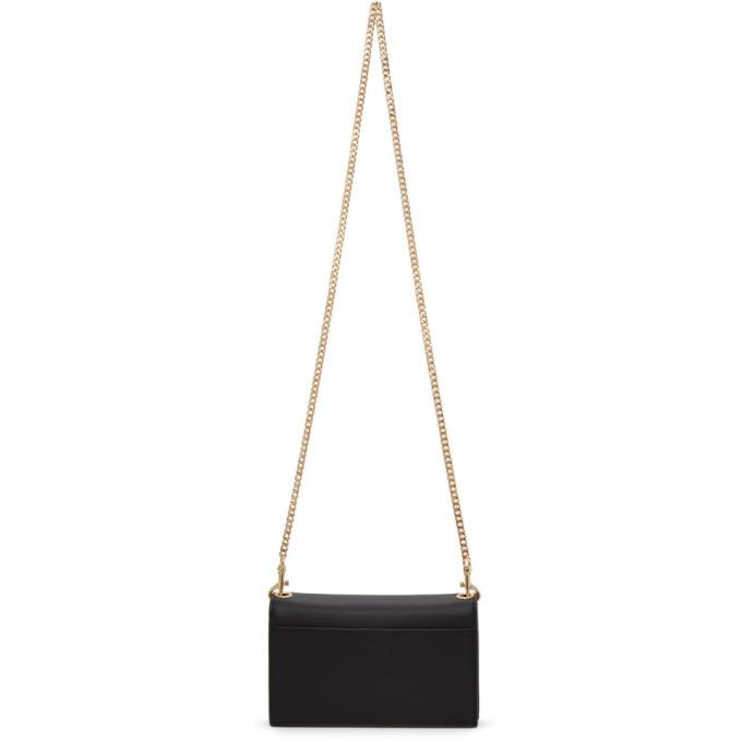 Versace Jeans Couture Black Faux-Leather Wallet Bag