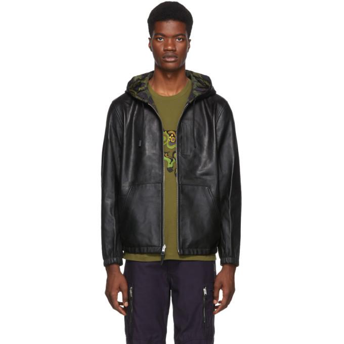 Photo: Coach 1941 Reversible Black Leather Hooded Jacket