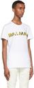 Balmain White & Yellow Graphic Logo T-Shirt