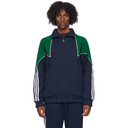 adidas Originals Navy and Green Trefoil Abstract Jacket