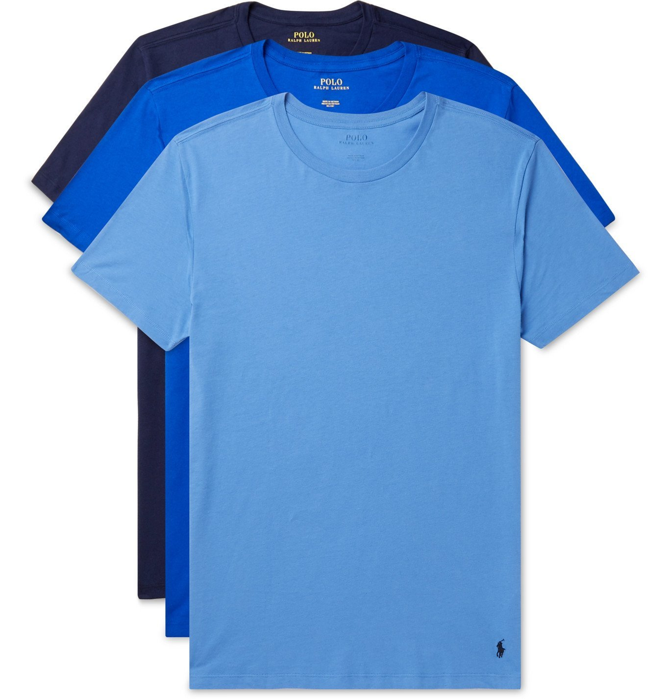 Photo: Polo Ralph Lauren - Three-Pack Cotton-Jersey T-Shirts - Blue