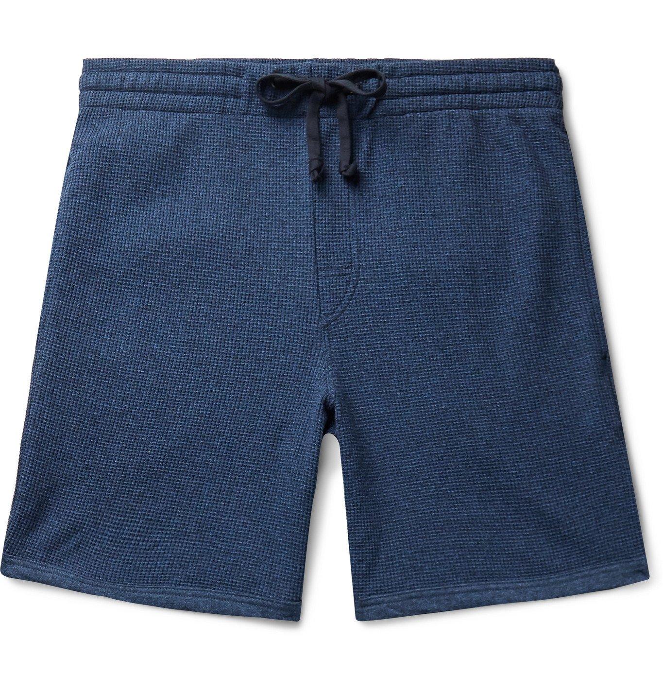 Photo: Schiesser - Hugo Textured-Cotton Drawstring Shorts - Blue
