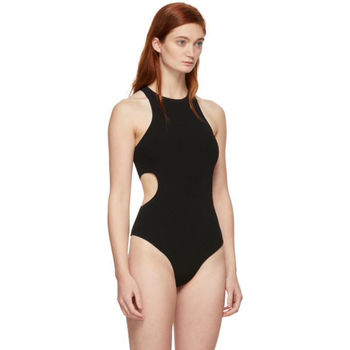 alexanderwang.t Black Swim Bodycon Bodysuit