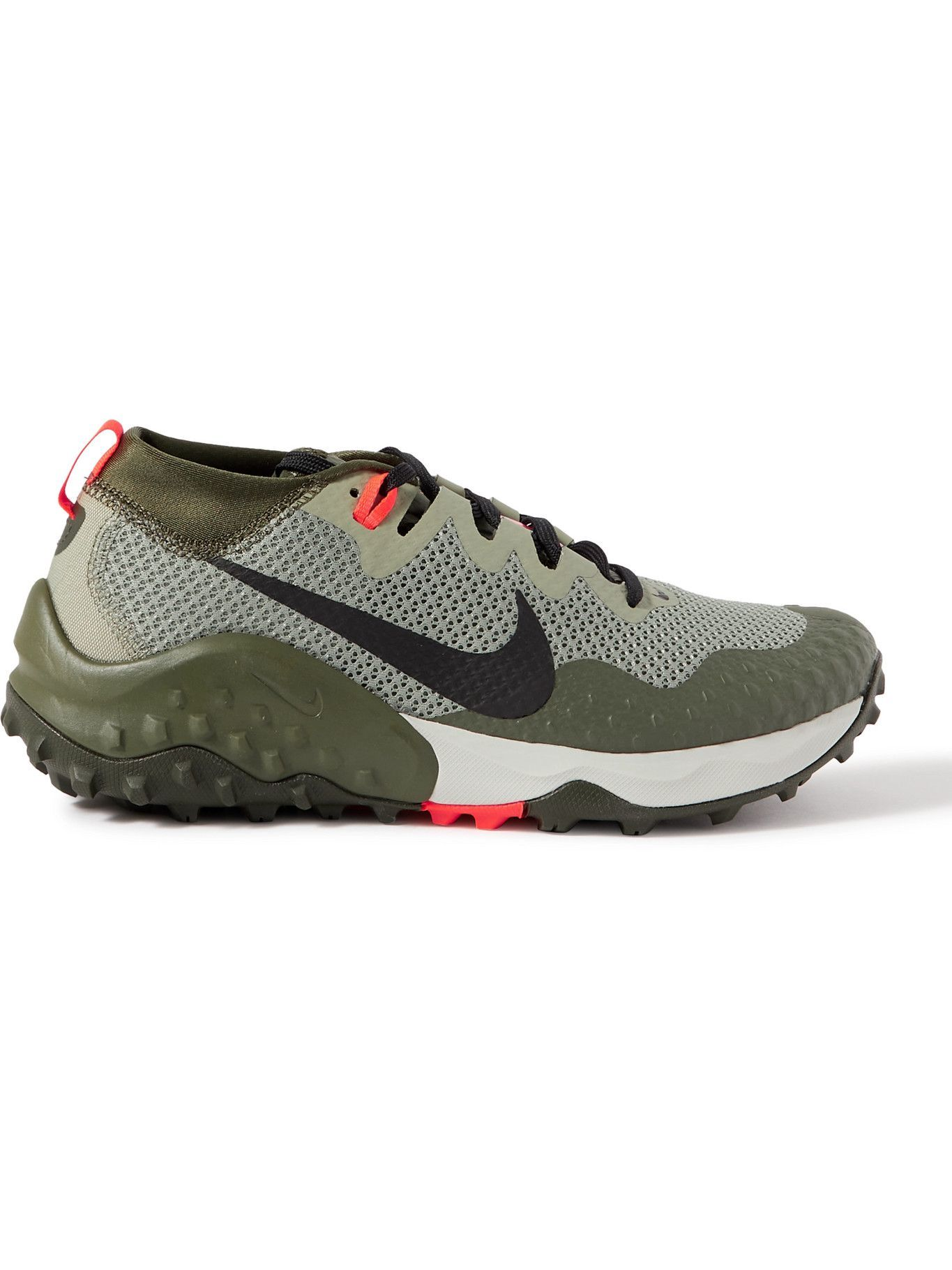 Photo: NIKE RUNNING - Nike Wildhorse 7 Canvas, Rubber and Mesh Running Sneakers - Green