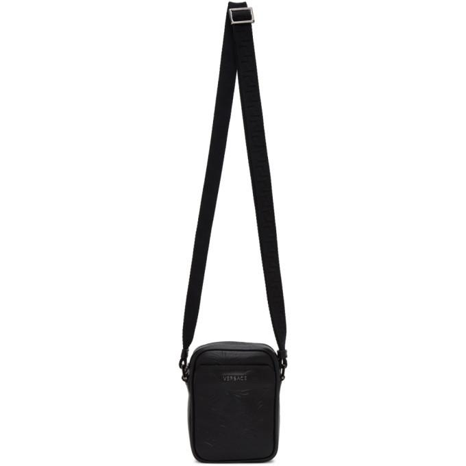 Photo: Versace Black Embossed Barocco Crossbody Bag