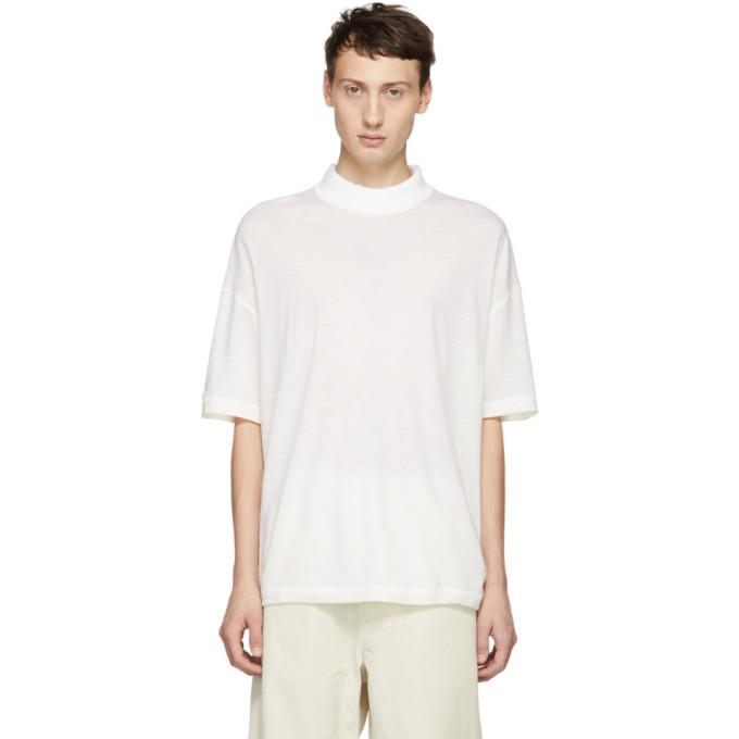 Photo: Jil Sander White Mock Neck T-Shirt