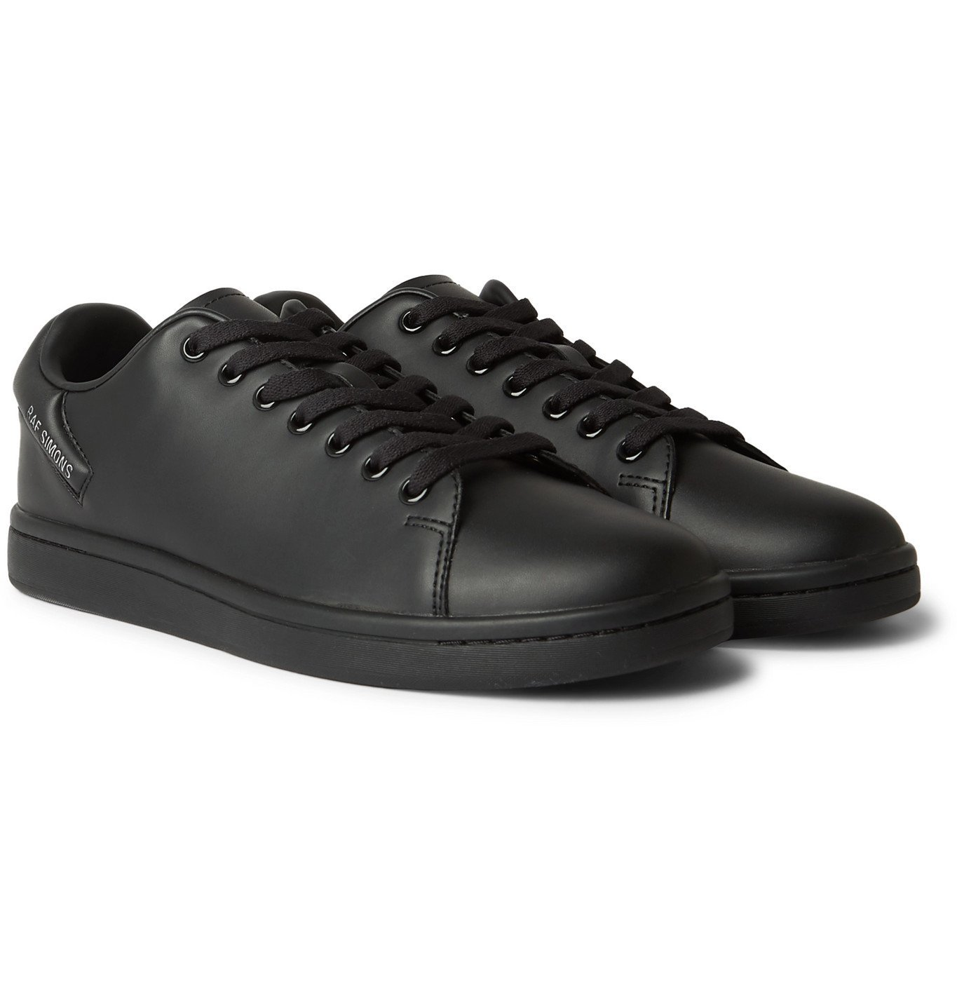 Photo: Raf Simons - Orion Vegan Leather Sneakers - Black