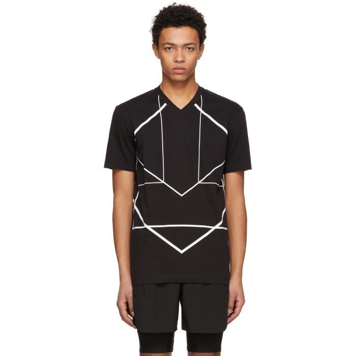 Black Long Sleeve Reflective Stripes T-Shirt Blackbarrett by Neil Barrett Cheap Visit HsNZwsyU5n