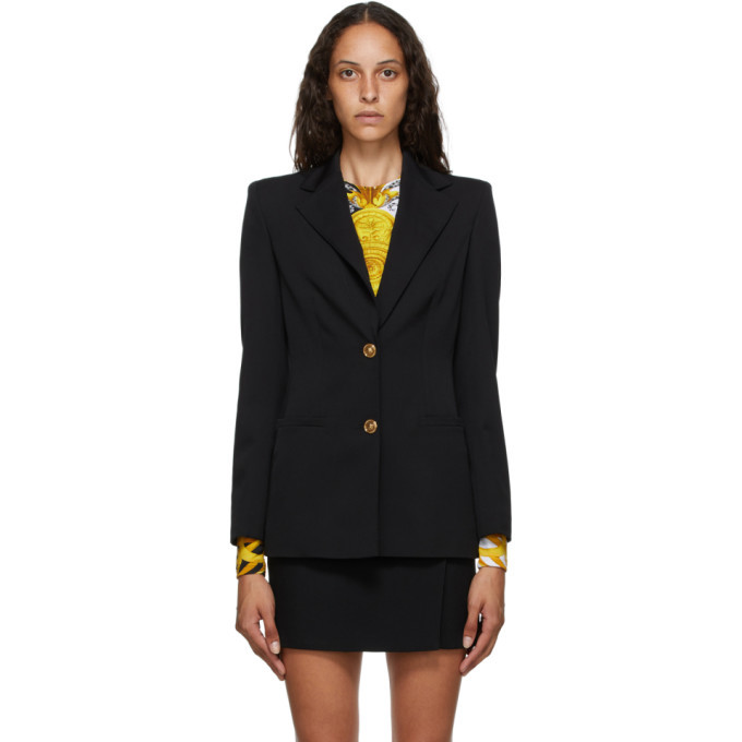 Photo: Versace Black Two-Button Blazer