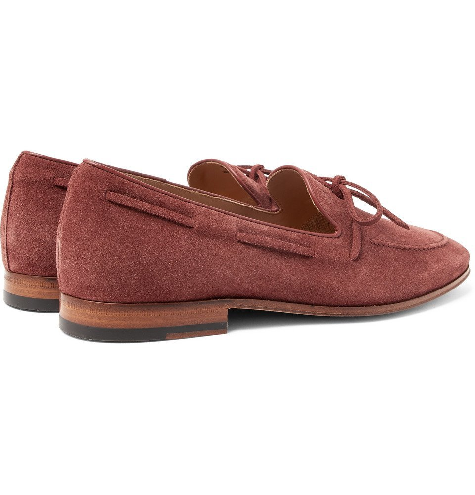 Tod's - Suede Loafers - Men - Burgundy