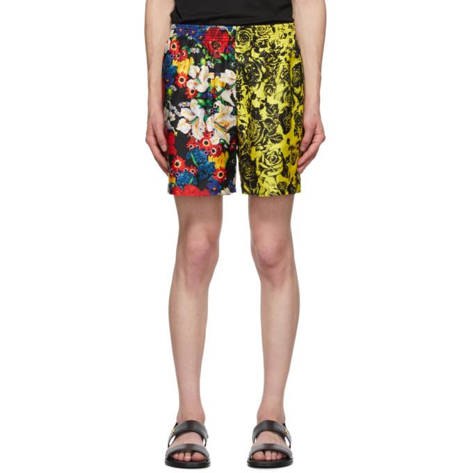 Photo: Versace SSENSE Exclusive Multicolor Silk Bouquet Shorts