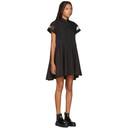 Sacai Black Short Sleeve Shirt Dress