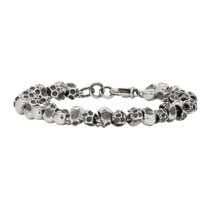 Photo: Luka Sabbat x Monini Silver Mini Skulls Bracelet