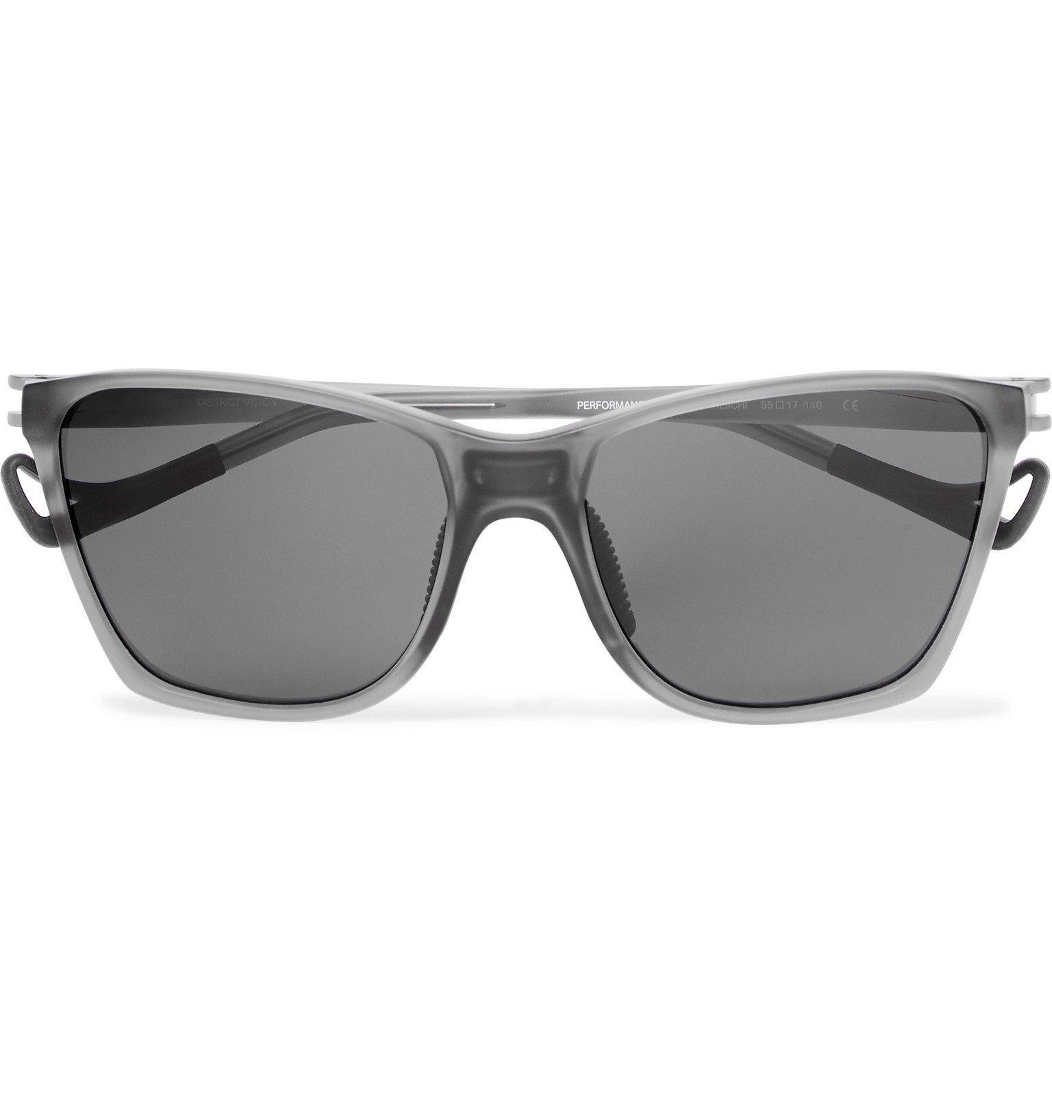 Photo: DISTRICT VISION - Keiichi D-Frame Acetate Polarised Sunglasses - Gray