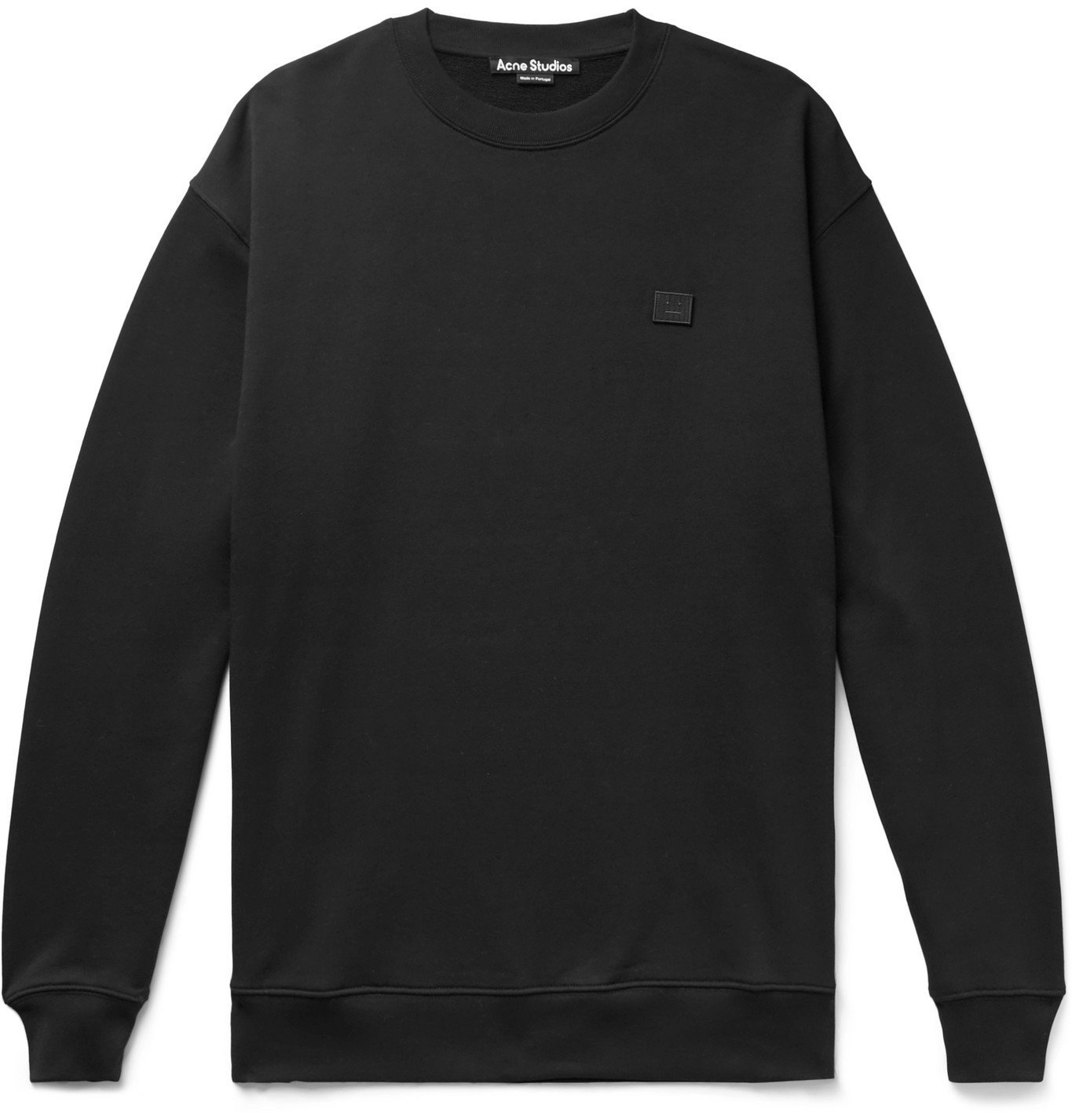 Acne Studios - Forba Oversized Logo-Appliquéd Loopback Cotton-Jersey Sweatshirt - Black