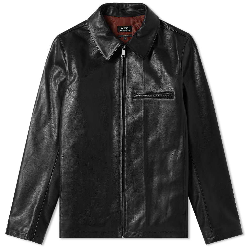 Photo: A.P.C. No Fun Leather Jacket