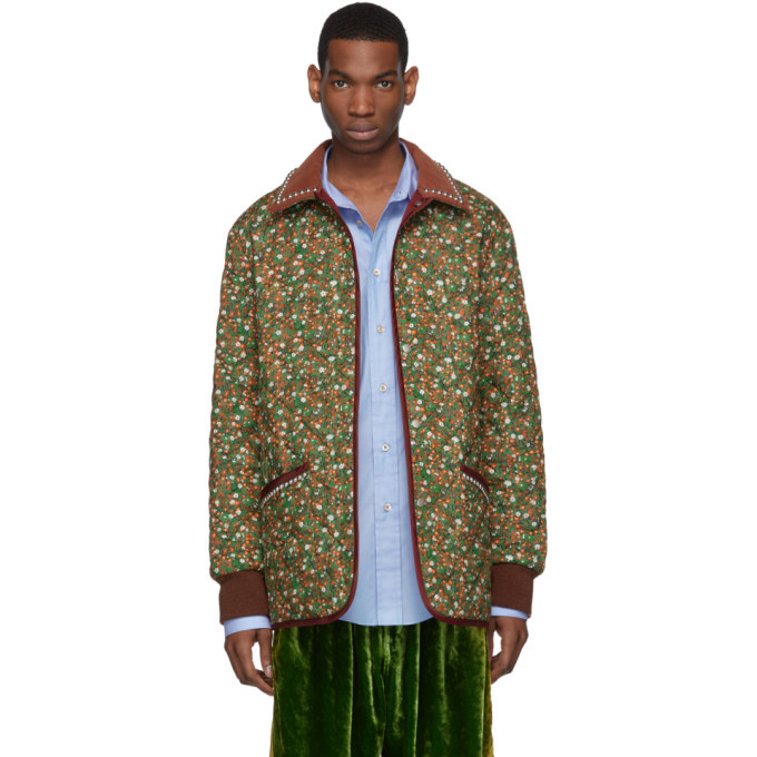 Photo: Gucci Green and Orange Flower Chateau Marmont Jacket