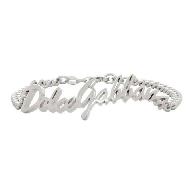 Photo: Dolce and Gabbana Silver Logo Bracelet