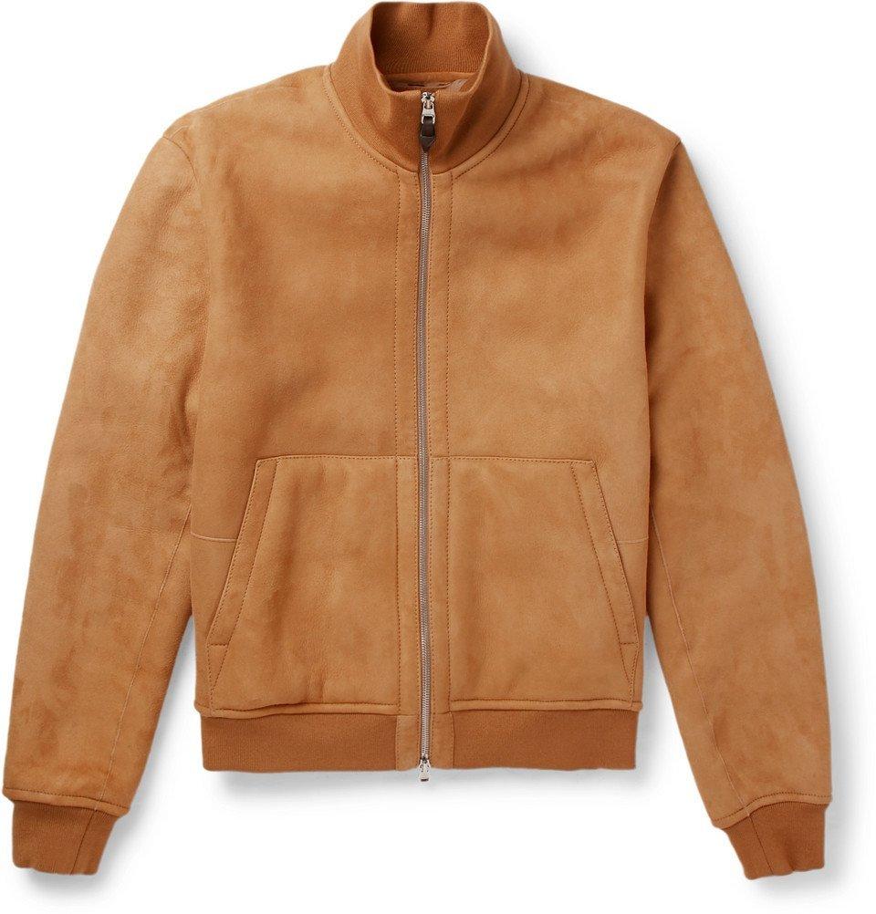 Dunhill - Shearling Blouson Jacket - Men - Camel