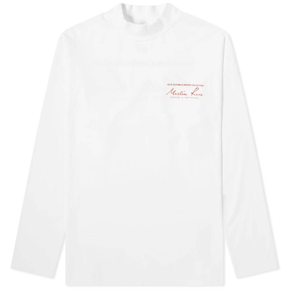 Martine Rose Funnel Neck Logo Long Sleeve Tee