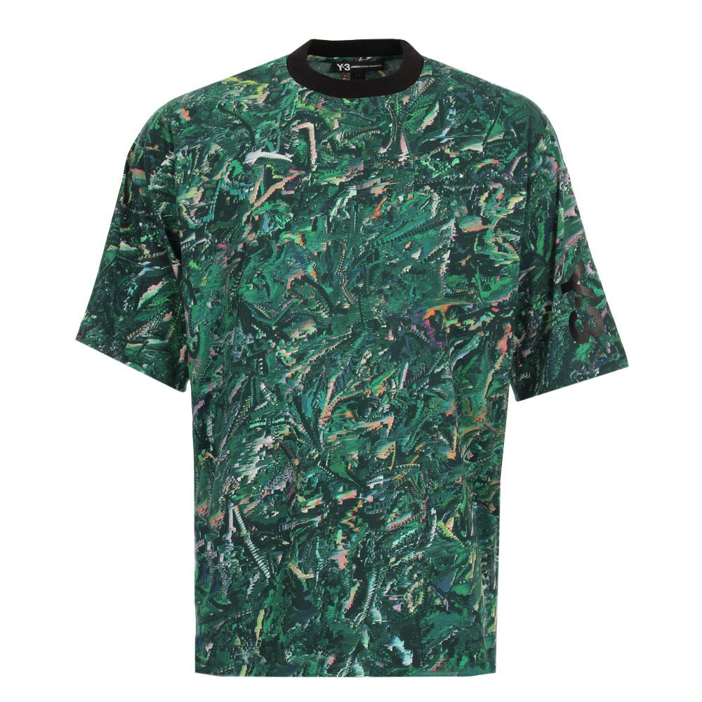 T-Shirt - Green Tropical Glitch