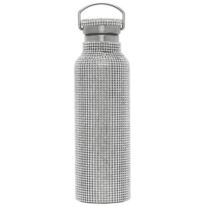 Photo: Collina Strada SSENSE Exclusive Silver Rhinestone Water Bottle